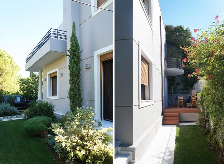 Ανακαίνιση μονοκατοικίας στην Κηφισιά, ανακαίνιση προσόψεων, εξωτερική θερμομόνωση