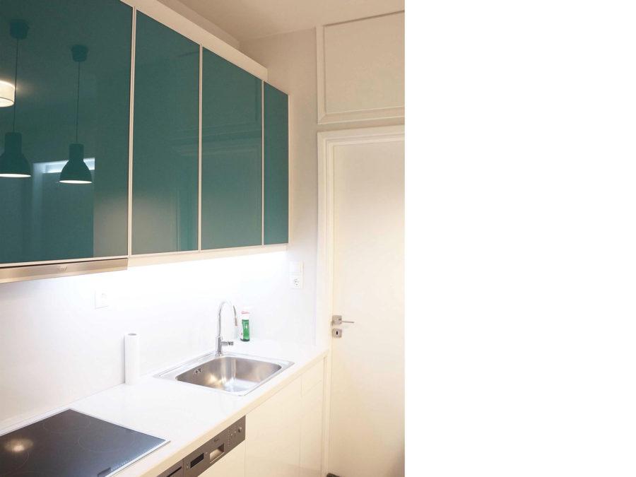 πλήρης ανακαίνιση διαμερίσματος, Ανακαίνιση διαμερίσματος-Κολωνάκι, ανακαίνιση κουζίνας, πορτάκια γυάλινα